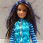 black hair barbie doll